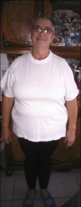 Evelyne quatre mois après l'opération
