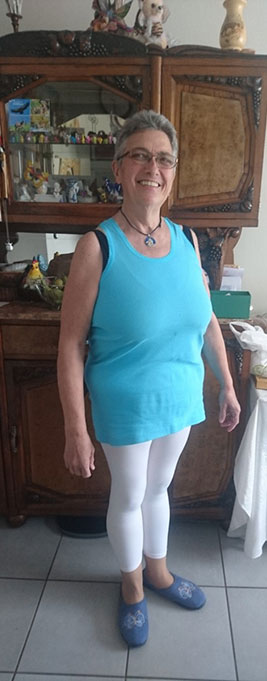 Evelyne un an après l'opération