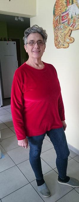 Evelyne deux ans après l'opération